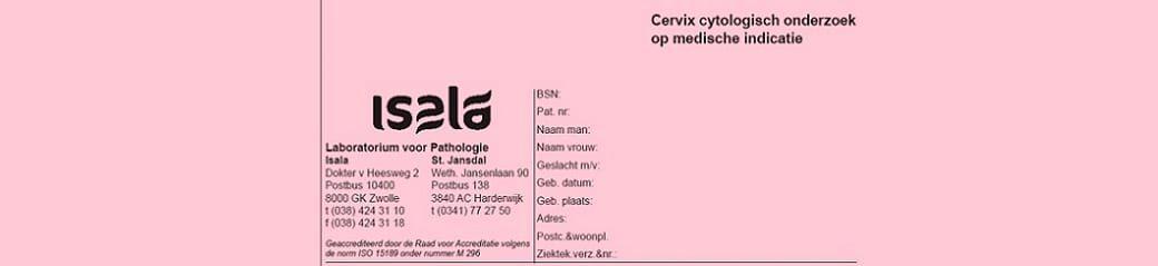 Formulier Cervixcytologie