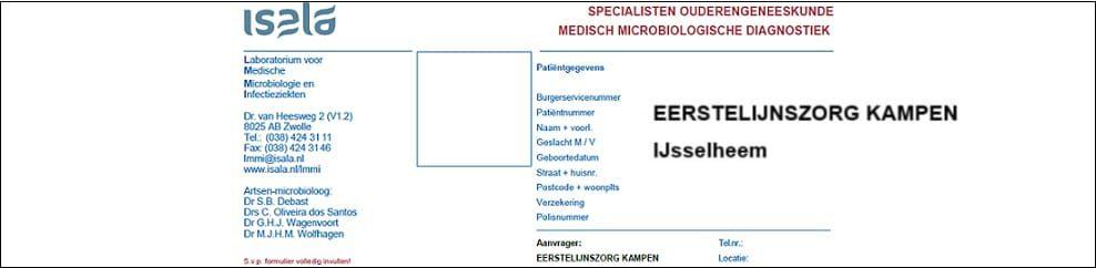 Aanvraagformulier Ouderengeneeskunde Eerstelijnszorg Kampen IJsselheem
