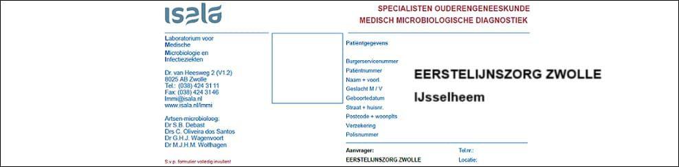 Aanvraagformulier Ouderengeneeskunde Eerstelijnszorg Zwolle IJsselheem