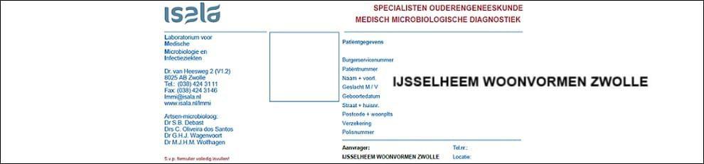 Aanvraagformulier Ouderengeneeskunde IJsselheem Woonvormen Zwolle
