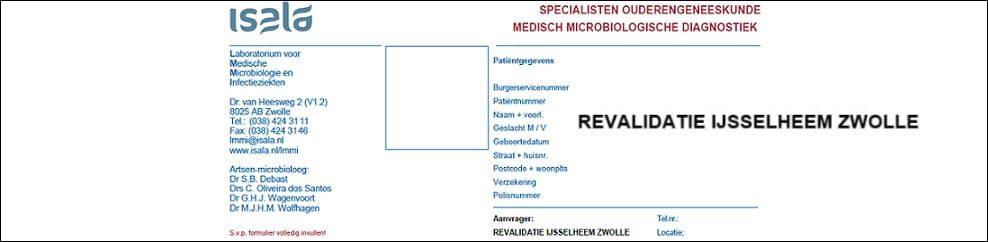 Aanvraagformulier Ouderengeneeskunde Revalidatie IJsselheem Zwolle